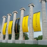 Photo taken at The Columns at Francis Quadrangle by Heather J. on 12/5/2012