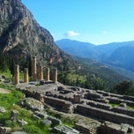 Photo taken at Ναός του Απόλλωνα (Temple of Apollo) by Дундук К. on 1/4/2013