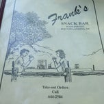 Photo taken at Frank's Snack Bar by Bobby H. on 8/17/2013