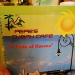 Photo taken at Pepe's cuban cafe by Chris P. on 3/29/2014