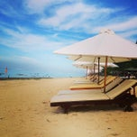 Photo taken at Pantai Pandawa (Pandawa Beach) by Денис on 4/2/2013