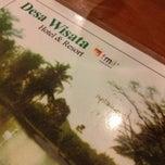 Photo taken at Desa Wisata Hotel , Resort & Convention Hall by Riyadh B. on 5/19/2013