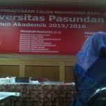 Photo taken at Universitas Pasundan (UNPAS) by Yati B. on 5/12/2015