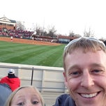 Photo taken at Marita Hynes Field at the OU Softball Complex by Ryan on 3/19/2014