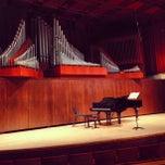 Photo taken at Paul Recital Hall at Juilliard by Tokuyuki K. on 3/25/2013
