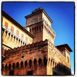 Photo taken at Castello Estense by Andrea S. on 3/16/2013