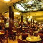 Photo taken at Gran Café Tortoni by Horacio V. on 6/12/2013