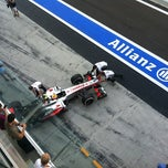 Photo taken at Red Bull Racing Pit by Kirill D. on 11/3/2012