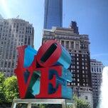 Photo taken at JFK Plaza / Love Park by Arnaud C. on 5/6/2013
