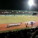 Photo taken at Stadion Manahan by Elfran T. on 12/23/2012