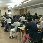 Photo taken at Abraham Lincoln High School by Pablo O. on 9/18/2014