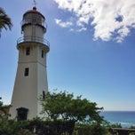 Photo taken at Diamond Head Lighthouse by Aya N. on 1/21/2015