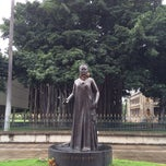 Photo taken at Queen Liliʻuokalani Statue by Haowei C. on 2/17/2014