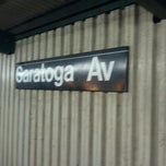 Photo taken at MTA Subway - Saratoga Ave (3) by Gary L. on 10/27/2012