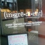 Photo taken at Ingredient by David A. on 4/9/2013