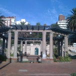 Photo taken at Plaza Gomensoro by Fabian on 1/28/2011