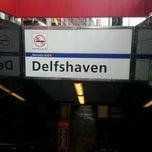 Photo taken at Metrostation Delfshaven [A, B, C] by Robbert V. on 12/24/2012