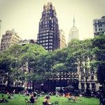 Photo taken at Bryant Park by Gaurav M. on 8/23/2013
