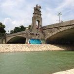 Photo taken at Wittelsbacherbrücke by Nicole B. on 7/6/2013