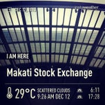 Photo taken at Makati Stock Exchange by Chawalit K. on 12/12/2013