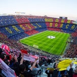 Photo taken at Camp Nou by Hüseyin on 10/19/2013