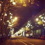 Photo taken at Avenue Montaigne by Etsareg on 11/25/2012
