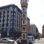 "Photo taken at Laimas Pulkstenis | Laima clock | Часы ""Лайма"" by Janis V. on 7/14/2013"
