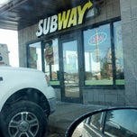 Photo taken at SUBWAY by Leslie K. on 3/19/2013