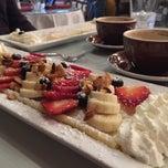 Photo taken at Crepe Cafe & Wine Bar by Jen on 5/14/2015