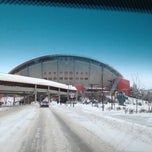 Photo taken at Scotiabank Saddledome by Mark H. on 3/4/2013
