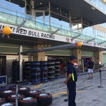 Photo taken at Red Bull Racing Pit by Karina on 11/20/2014