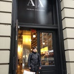 Photo taken at Armani Exchange by Bilov on 1/12/2013