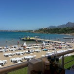 Photo taken at Escape Beach Club by Reyhan Taylan B. on 6/3/2013