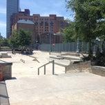 Photo taken at Tribeca Skate Park by Vinicius G. on 7/7/2013