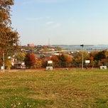 Photo taken at Ronan Park by Eliane O. on 10/27/2012