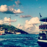 Photo taken at Sarıyer Sahili by Volkan V. on 9/2/2012