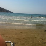 Photo taken at Kini Beach by Athanasia A. on 7/7/2013