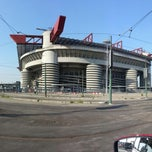 "Photo taken at Stadio San Siro ""Giuseppe Meazza"" by Leo on 6/17/2013"