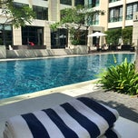 Photo taken at The Courtyard Pool by Nadia P. on 9/6/2014