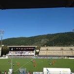 Photo taken at Stadio Lungo Bisenzio by Davide C. on 10/22/2014