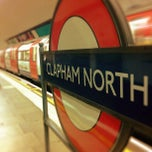 Photo taken at Clapham North London Underground Station by Chris K. on 10/20/2012