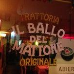 Photo taken at Il Ballo Del Mattone Trattoria Originale by Mariano E. on 4/1/2013