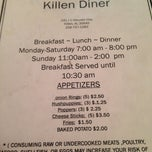 Photo taken at The Killen Diner by Justin H. on 11/30/2013