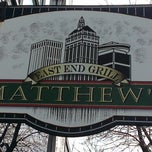 Photo taken at Matthews East End Grill by Bradley B. on 1/12/2013