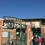 Photo taken at Hawks Field at Haymarket Park by Mike C. on 5/23/2013