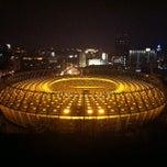 Photo taken at НСК «Олімпійський» / Olimpiyskiy Stadium by Dmitriy P. on 11/9/2013