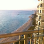 Photo taken at DoubleTree by Hilton Ocean Point Resort & Spa - North Miami Beach by José P. on 1/26/2013