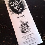 Photo taken at Rabbit Hole Cafe by Michelle on 5/8/2013