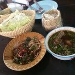 Photo taken at ลาบเมืองป้าว by Jene N. on 2/6/2015