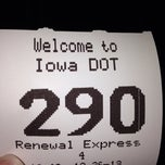 Photo taken at Iowa Drivers License by Kristen C. on 12/26/2013